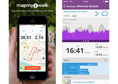 Free Calorie Counter Diet Exercise Journal MyFitnessPalcom - Map your walk app